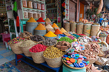 Spice market in Morocco